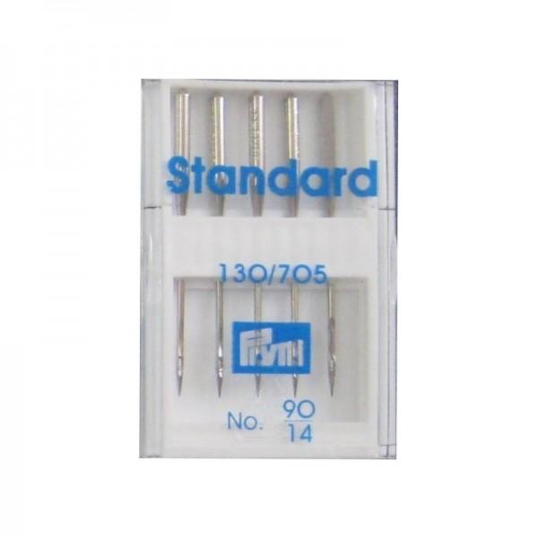 Nähmaschinennadeln 130/705 Standard Stärke 90 silberfarbig 5 St