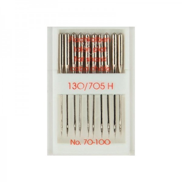 Nähmaschinennadeln 130/705 Standard Stärke 70-100 silberfarbig 10 St