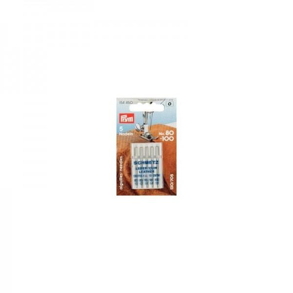 Nähmaschinennadeln 130/705 LEDER Stärke 80-100 silberfarbig 5 St