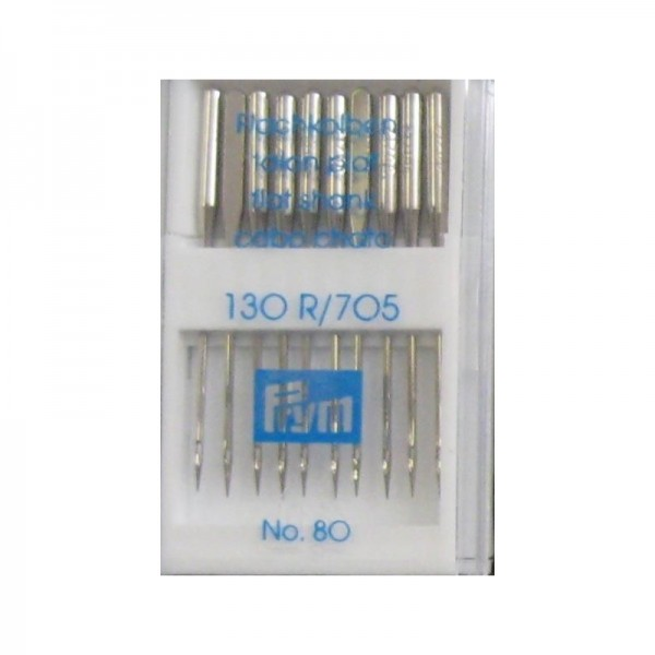 Nähmaschinennadeln 130/705 Standard Stärke 80 silberfarbig 10 St